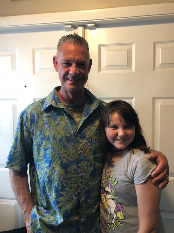 Amy Grace and her father
