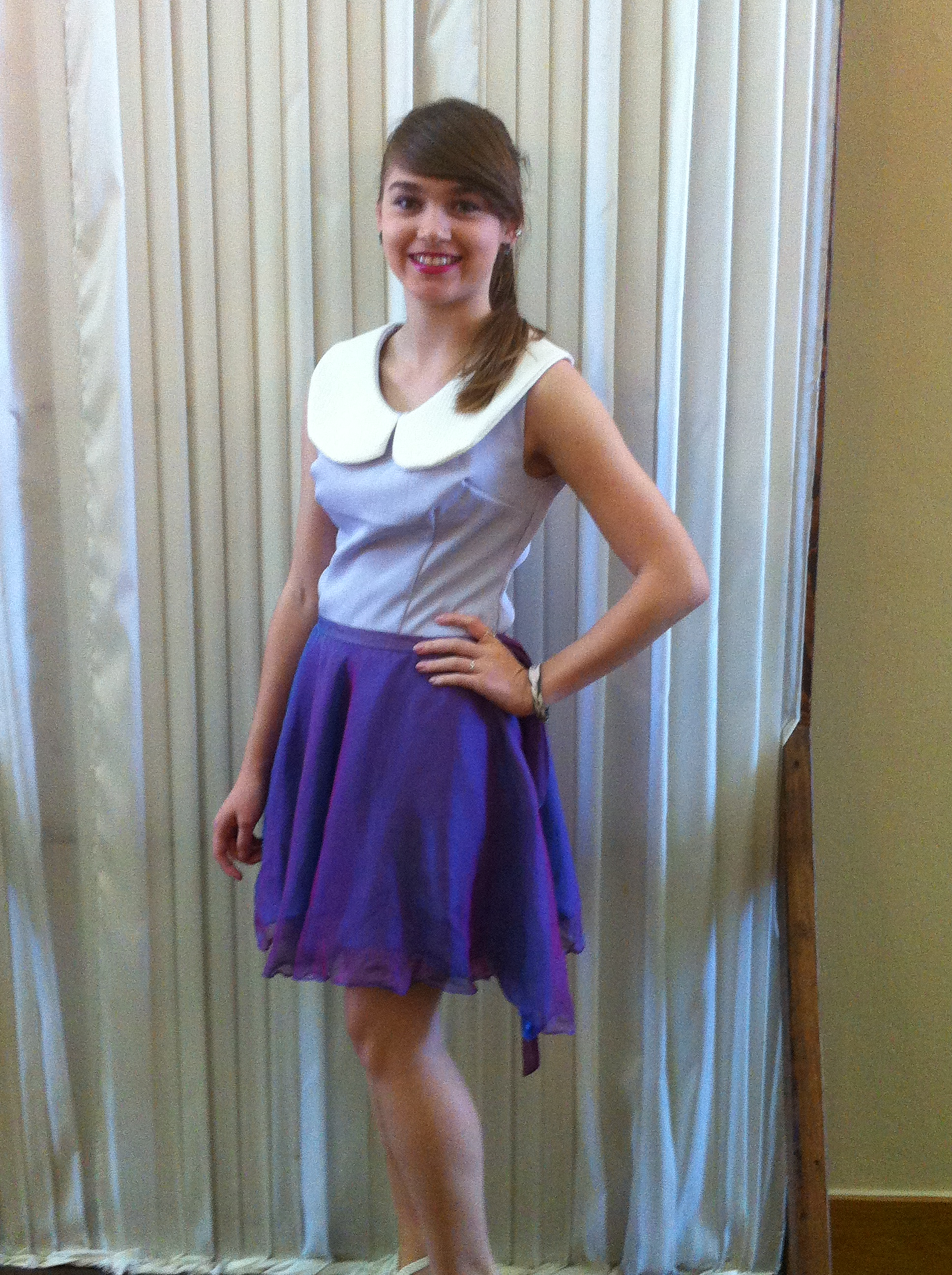 Aly_in_purple&blue_circle_skirt_with_lilac_top_white_collar