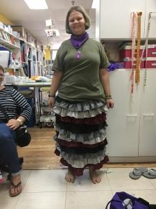 Elise in her beautiful ruffled skirt