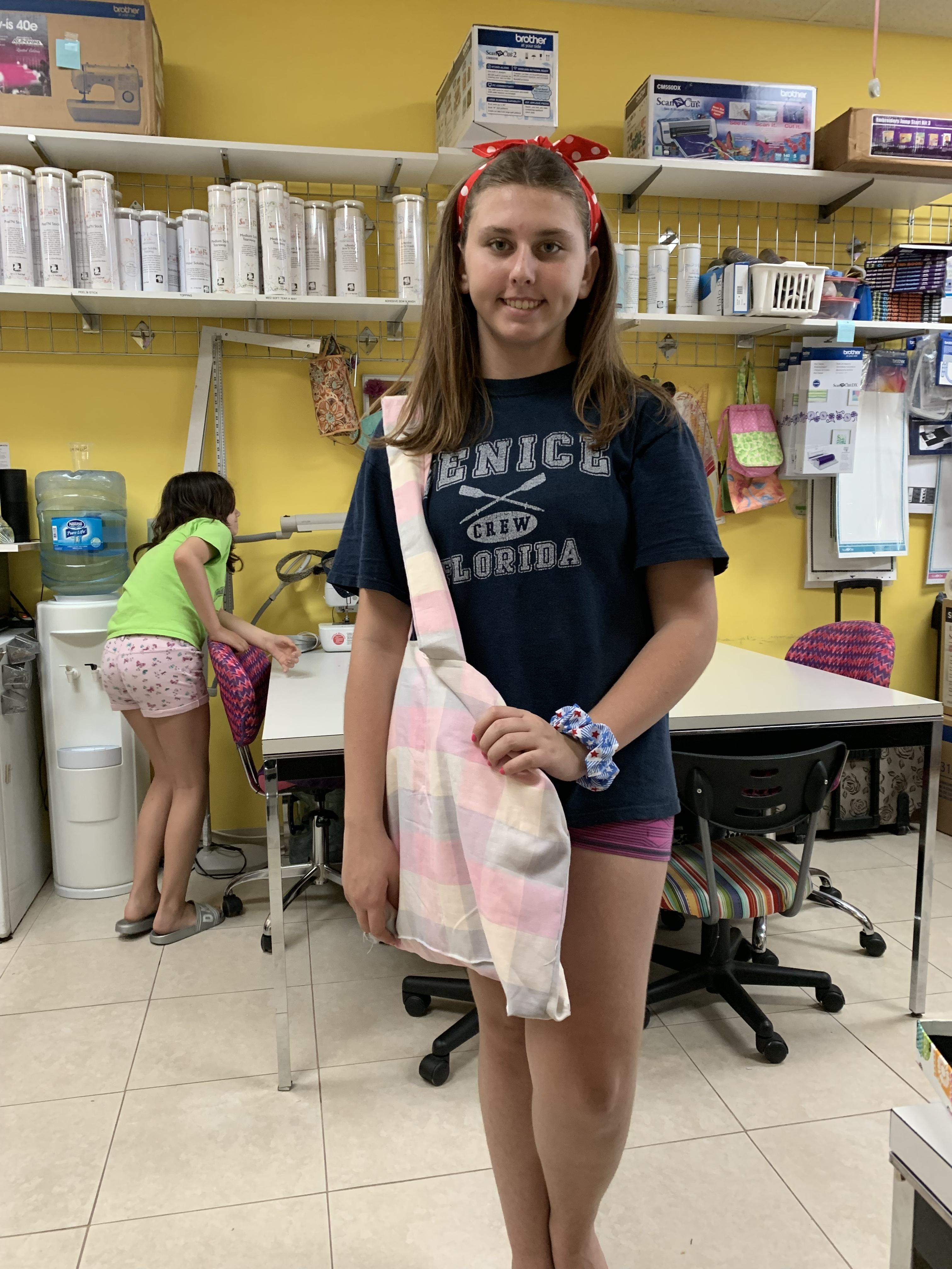 Jillian made a beach bag