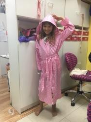 Allie in her new robe