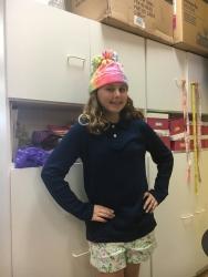 Jillian in her sleep hat