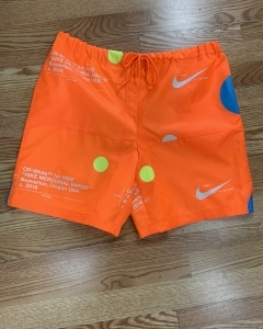 Believe it or not, these shorts started out as two Nike shoe bags!