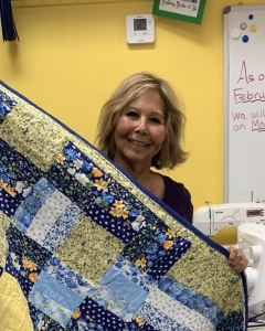 Dori finished this beautiful quilt for her granddaugher